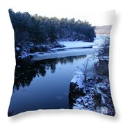 The St. Croix River In December Throw Pillow