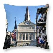 The St. Louis Cathedral Throw Pillow