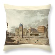 The St. Peter's Cathedral In Rome Throw Pillow by Splendid Art Prints