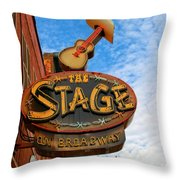 The Stage On Broadway Throw Pillow