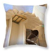 The Staircase Barcelona Throw Pillow
