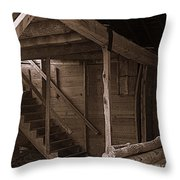 The Stairs Still Stand Throw Pillow