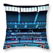 The Stands At Oriole Park Throw Pillow