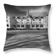 The Stanley Hotel Bw Throw Pillow
