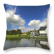 The Star Barn After The Storm Throw Pillow