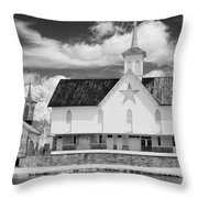 The Star Barn - Infrared Throw Pillow