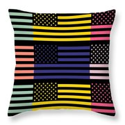 The Star Flag Throw Pillow by Tommytechno Sweden