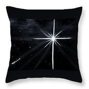 The Star Throw Pillow by Judy M Watts-Rohanna