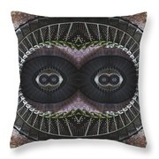 The Stare Throw Pillow by Debra and Dave Vanderlaan