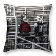 The Stare-off Begins Throw Pillow