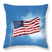 The Stars And Stripes Throw Pillow