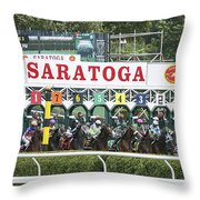 The Start At Saratoga Throw Pillow