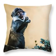 The Starving Ape Throw Pillow