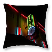 The State In Neon Throw Pillow