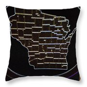 The State Of Wisconsin Throw Pillow