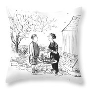 The State The World's Throw Pillow