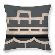 The Staten Island Ferry Throw Pillow