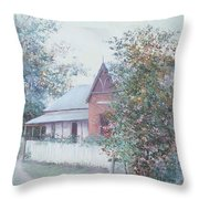 The Stationmaster's Cottage Throw Pillow