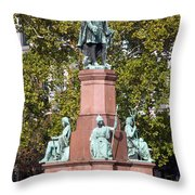 The Statue Of Istvan Szechenyi In Budapest Throw Pillow