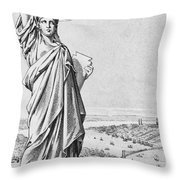 The Statue Of Liberty New York Throw Pillow