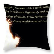 A Mighty Woman The Statue Of Liberty Throw Pillow