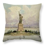 The Statue Of Liberty  Throw Pillow