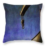 The Steam Crane Throw Pillow