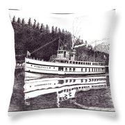 The Steamer Virginia V Throw Pillow