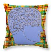 The Steampunk Brain Throw Pillow