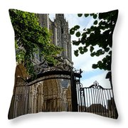 The Steeple And The Gate Throw Pillow