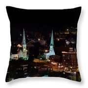 The Steeple City Throw Pillow