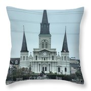 The St.louis Cathedral Throw Pillow
