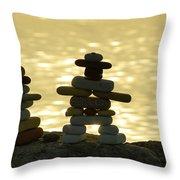 The Stone Couple Throw Pillow