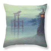 The Stone Lantern Cira 1880 Throw Pillow