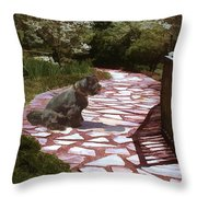 The Stone Path Throw Pillow
