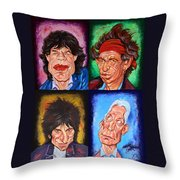 The Rolling Stones Throw Pillow by Dan Haraga
