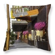 The Store Fronts Throw Pillow