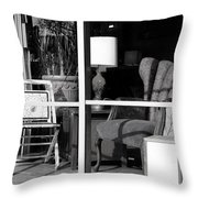 The Storefront Throw Pillow