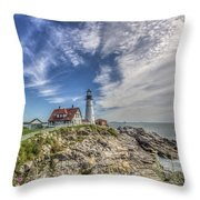The Storm Approaches Throw Pillow