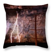 The Storm Is Upon Us Throw Pillow