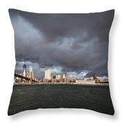 The Storm Over Manhattan Throw Pillow