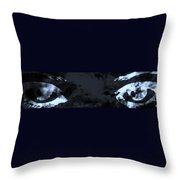 The Storm You Left Behind My Eyes Throw Pillow