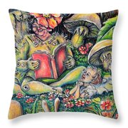 The Story Lady Throw Pillow