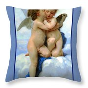 The Story Of Cupid And Psyche Throw Pillow