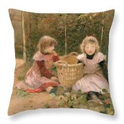 The Strawberry Patch Throw Pillow