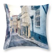 The Streets Of Old Quebec City Throw Pillow