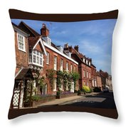 The Streets Of Winchester England Throw Pillow