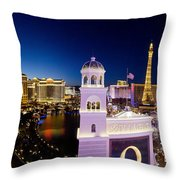 the Strip Las Vegas Throw Pillow