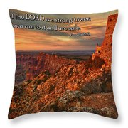 The Strong Tower Throw Pillow