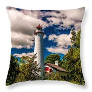 The Sturgeon Point Light Throw Pillow